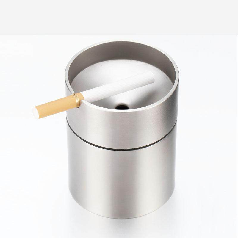 Ashtray Stainless Steel Car Windproof Creative Smoke Fashion Gift Home Decoration Send Boyfriend