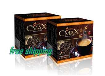 เอสโอเอ็ม    SOM   กาแฟ CMAX  กาแฟผสมถังเช่า โสม กระชายดำ  เพื่อสุขภาพ   จำนวน 2 กล่อง  (1 กล่อง 12 ซอง) อร่อย รสชาดดี-