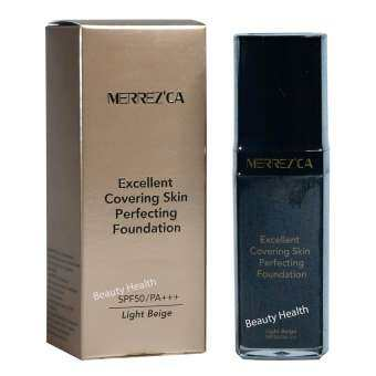 Merrez'ca Excellent Covering Skin Perfecting Foundation #21 Light Nude (1 กล่อง)