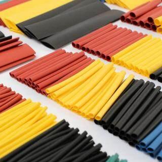 328 Cái bộ Sleeving Quấn Dây Bộ Co Màu Cáp Điện Xe Thước Polyolefin Hỗn 8 Kích Dẫn Hơi, Hợp Ống Nhiệt R8Z6 thumbnail