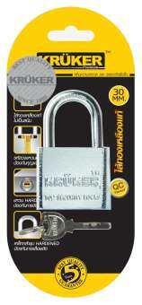KRUKER กุญแจลูกปืนโครมเงา 30 mm. (คอสั้น) ส่งฟรี มีบริการเก็บเงินปลายทาง