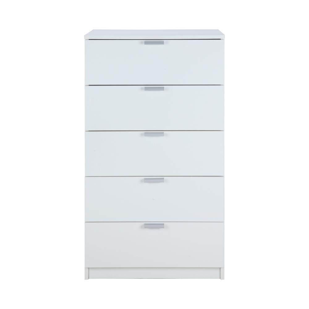 Winner Furniture ตู้ทรงเตี้ย 5 ลิ้นชัก รุ่น แม็กซ์ - สีขาว By Index Living Mall Official Store.