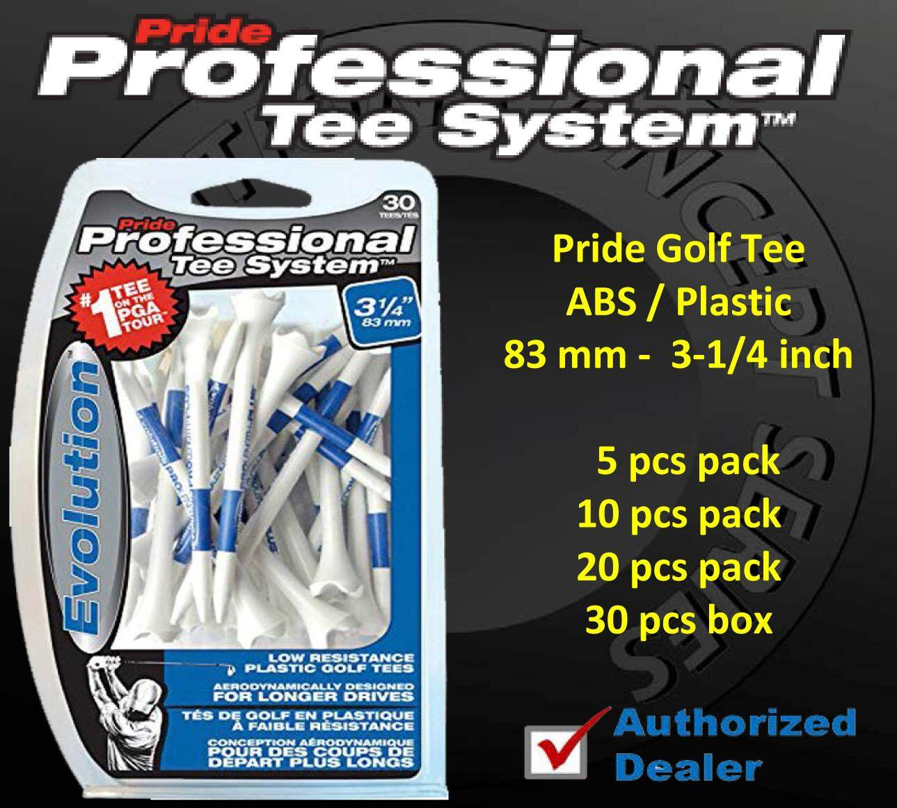 Pride Golf Evolution Professional Abs Plastic Tee`s ( 83 Mm - 3-1/4 Inch ) 5/10/20/30 Pcs. Pack.