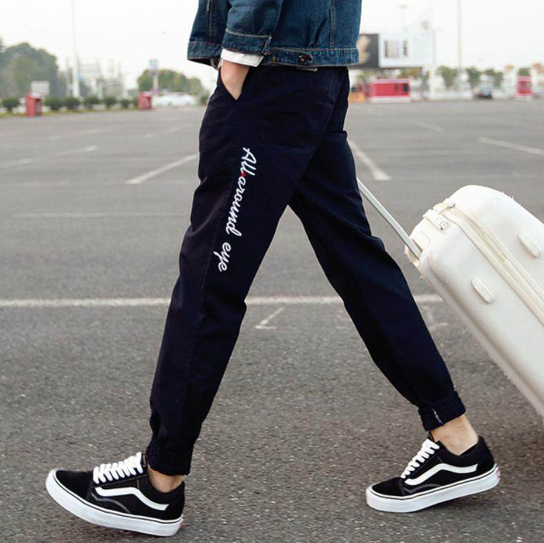 กางเกงขายาวลำลอง แฟชั่นสำหรับผู้ชาย (สีดำ) By Rocket Girl.