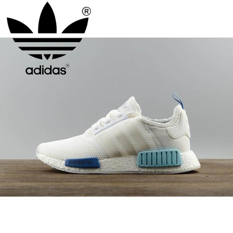 100% แท้ _ Adidas_nmd Runner Pk และ Breathable ใหม่มาถึงผู้ชายรองเท้าวิ่งคลาสสิก Unisex กีฬารองเท้าผ้าใบ S75235 Sao Paulo สีขาว 36-45 * หลาขนาดใหญ่ *.