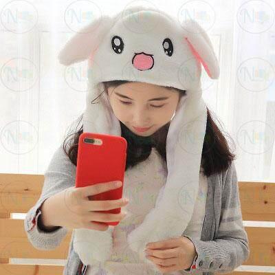 หมวกหูกระต่ายดุ๊กดิ๊ก ขยับหูได้ ไม่ต้องใส่ถ่าน By Hqp Store.