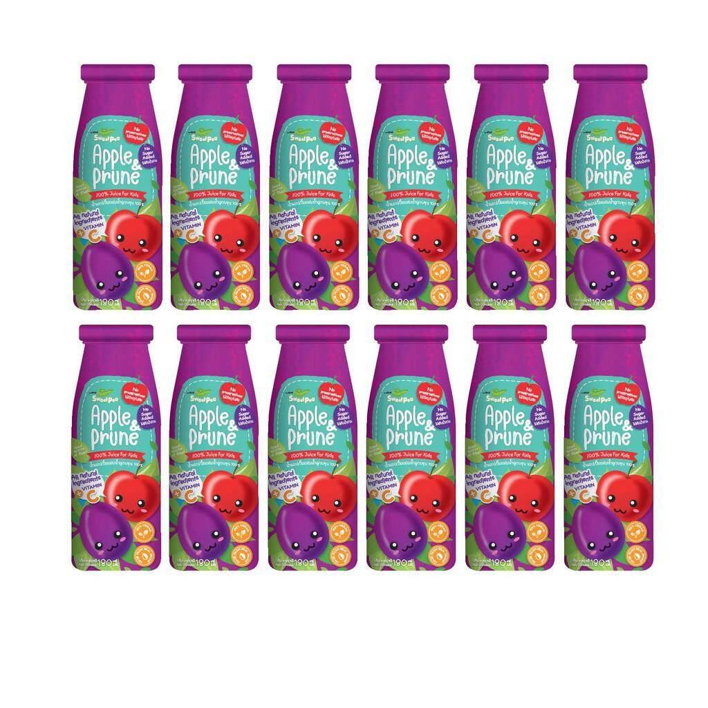 Sweet Pea (สวีทพี) น้ำแอปเปิ้ลผสมน้ำลูกพรุน สำหรับเด็ก 6 เดือนขึ้นไป แพค 12 ขวด X 180 Ml.