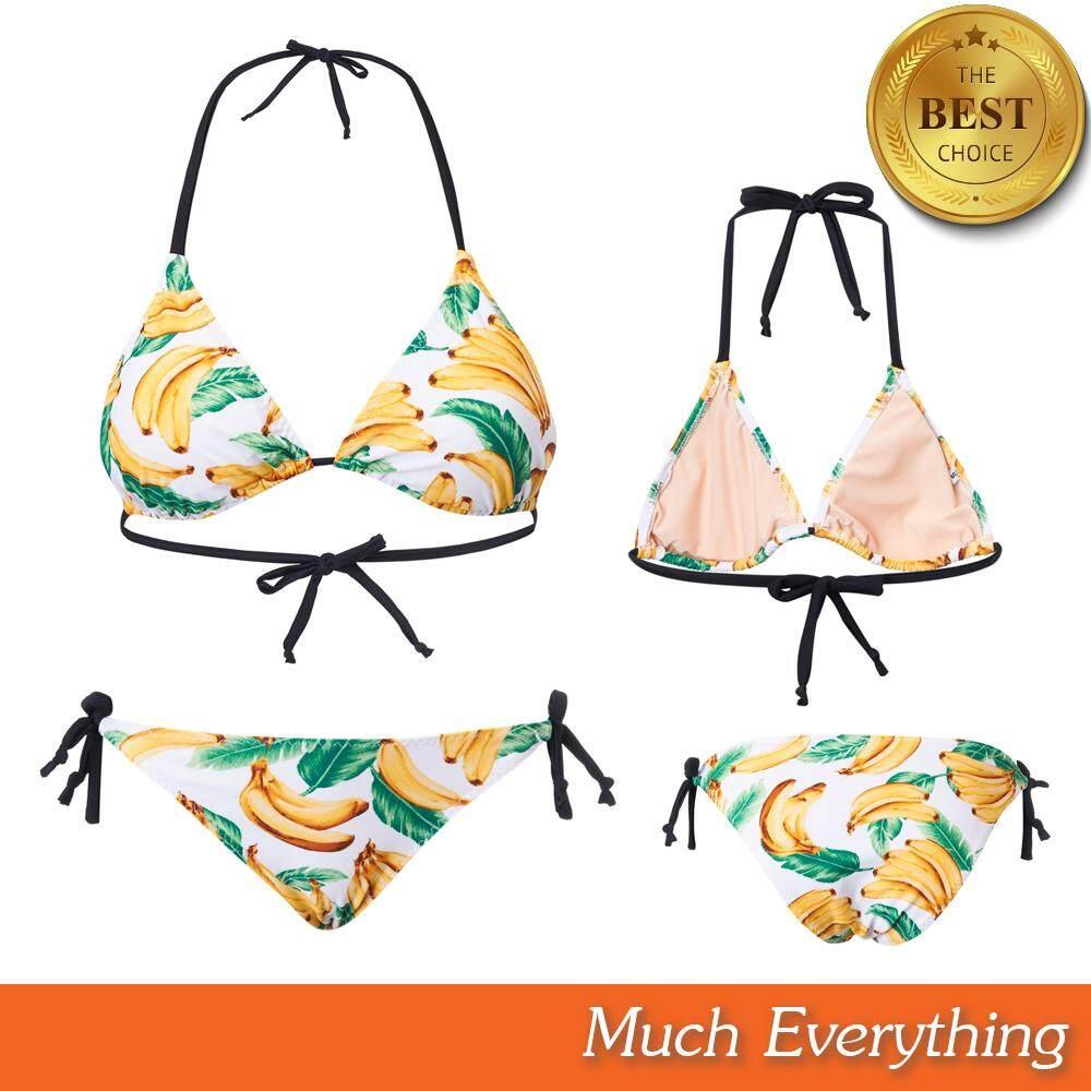 Bikini ชุดบิกินี่ ชุดทูพีช ชุดว่ายน้ำ ผู้หญิง รุ่น Fruity ผ้ากัน Uv 100% ผลิตจากเนื้อผ้าคุณภาพดี By Much Everything.