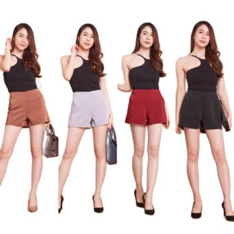 Shichinhanako กางเกงขาสั้น ผ้าฮานาโกะ [ เอว S-3XL ] ลดราคาพิเศษ