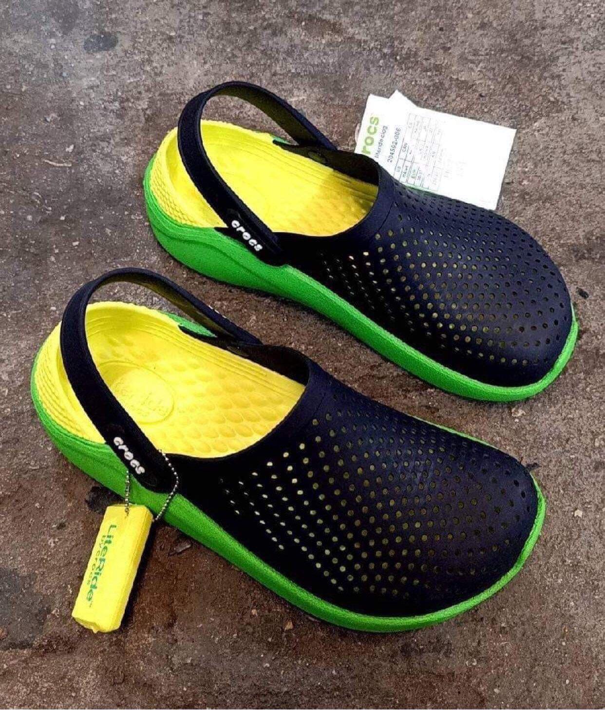รองเท้าแตะ Literide ใส่สบาย ทั้งชายและหญิง วัสดุผลิตจากยางแท้ 100% D1.