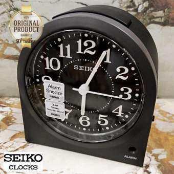SEIKO นาฬิกาปลุก Alarm Clock (Snooze) QHE179K - สีดำ-