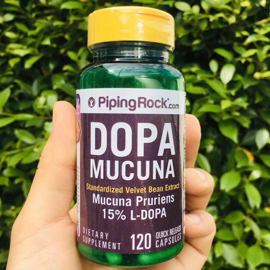 สารสกัดเมล็ดหมามุ่ย Dopa Mucuna, Pruriens Standardized 350 mg 120 Capsules  (Piping Rock®) หมามุ่ยอินเดีย