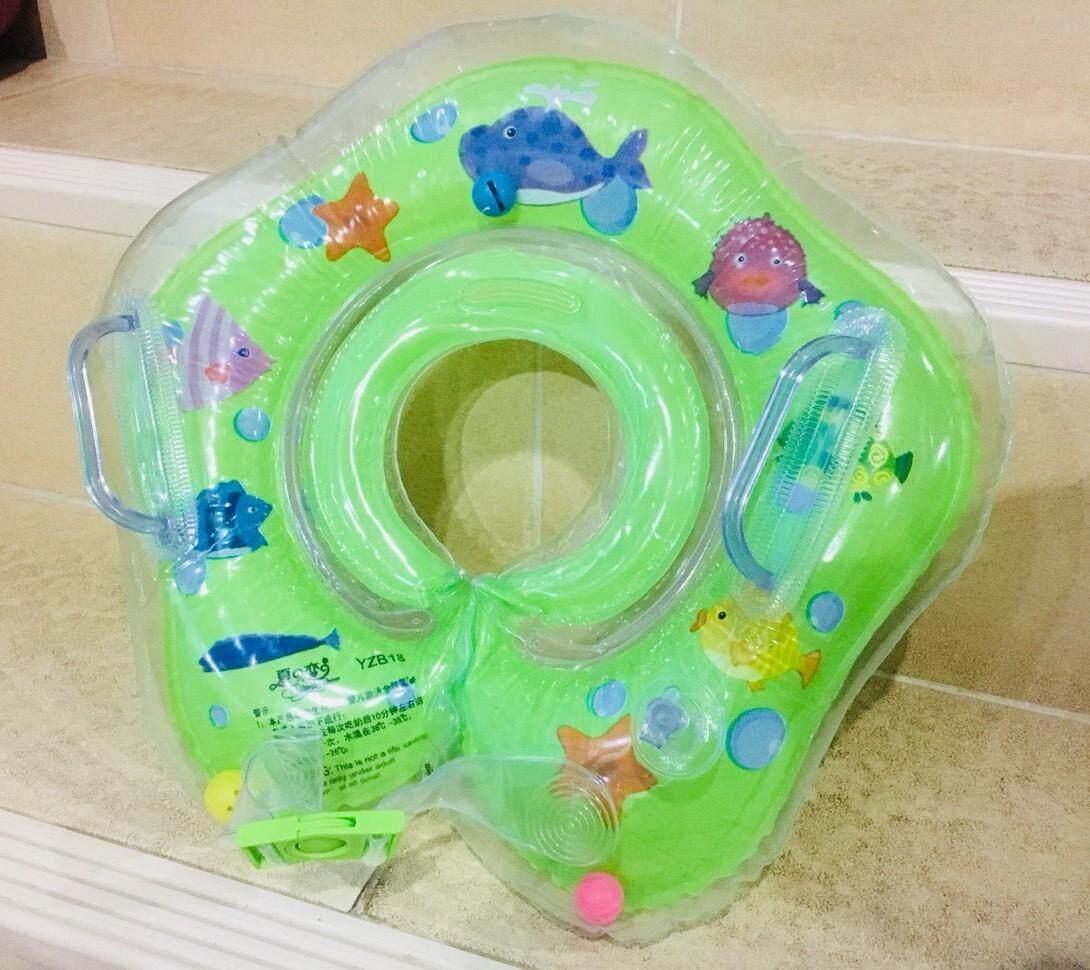 ห่วงยางสวมคอสำหรับเด็ก อายุ 3 -12เดือนขึ้นไป-สีเขียว สำหรับฝึกว่ายน้ำ
