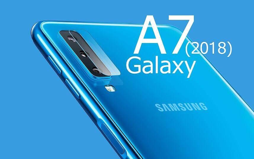 5d ฟิล์มกระจกนิรภัย กล้องหลัง ซัมซุง เอ7 (2018) Camera Protector Glass Samsung Galaxy A7 (2018) (6.0 ).
