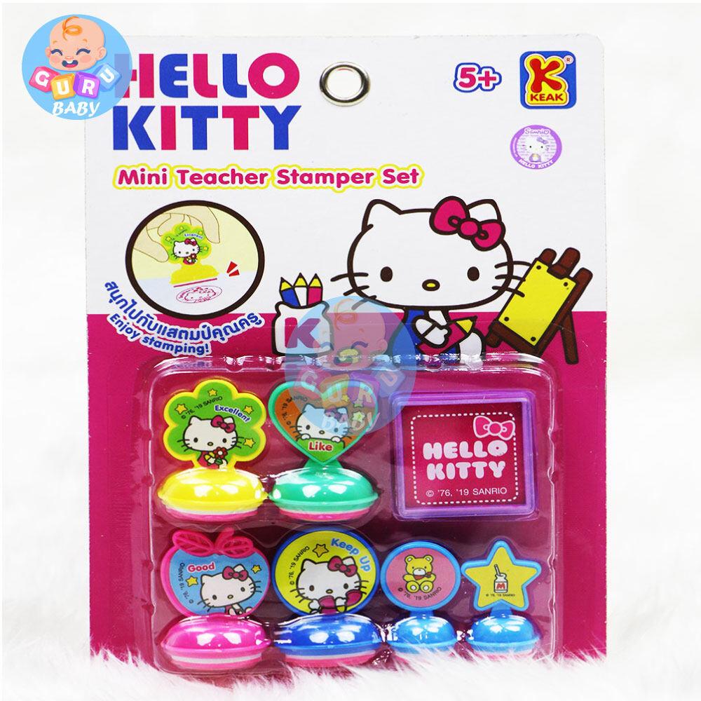 ของเล่นเด็ก ของเล่นเสริมทักษะ Hello Kitty ของเล่นเด็ก มินิแสตมป์เปอร์เซ็ท ขนาด ยาว 13* กว้าง 3* สูง 20 ซม..