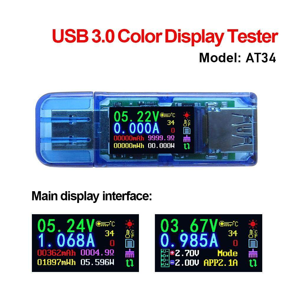 【hot Sale】usb3.0 Color Lcd Display Voltage Current Power Battery Charge Measuring Meter Multifunctional Usb Tester.