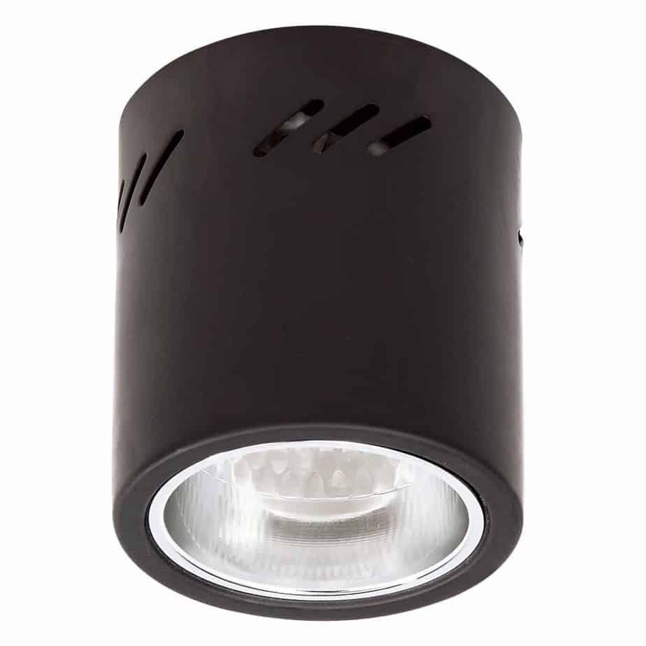 Dc Downlight โคมไฟ ดาวน์ไลท์ กระบอก ติดลอย สีดำ ขนาด 4 นิ้ว ขั้ว E27.
