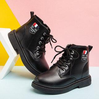 Trẻ Em Bốt Ngắn Thu Đông Đế Mềm Giày Cổ Cao Giày Đơn Mẫu Mới Cho Trẻ Em Dr. Martens Phiên Bản Hàn Quốc Giày Trẻ Em Bé Bốt Trắng thumbnail