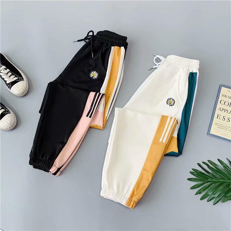 C กางเกงขายาวเเฟชั่น ลายทานตะวัน (ผู้หญิง ผู้ชายใส่ได้) กางเกงยืดได้เยอะ เนื้อผ้าดี สวมใส่สบาย (พร้อมส่งจ้า) (เก็บเงินปลายทางได้) รุ่น903.