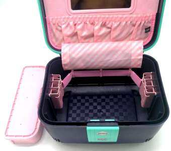 Lunping กระเป๋าใส่เครื่องสำอางและอุปกรณ์แต่งหน้า สำหรับช่างมืออาชีพ วัสดุPCกันน้ำได้ ภายในมีช่องสำหรับใส่อุปกรณ์  กล่องเครื่องสำอางเครื่องแต่งหน้า กระเป๋าเครื่องสำอางพกพาขนาดใหญ่ Multi - Function แบบพกพา Skin Care ผลิตภัณฑ์ล้างเครื่องสำอาง Double - Layer