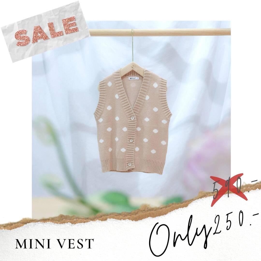 [mini.me] Mini Vest เสื้อกั๊กเด็ก ไหมพรมทอแน่น ลายจุดสุดน่ารัก.