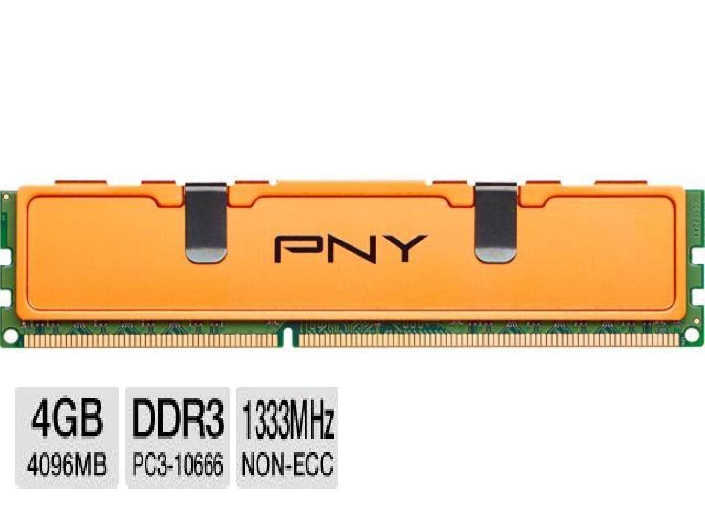 แรม Pny 4gb  Ddr3 Pc3-10600-1333mhz 240-Pin Density Desktop  Ram.