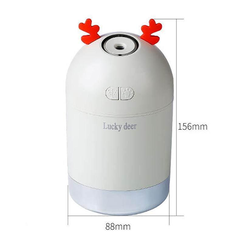 Lucky Deer USB Mini Air Humidifier 400Ml Car Air Purification Humidifier Aromatherapy Essential Oil Diffuser