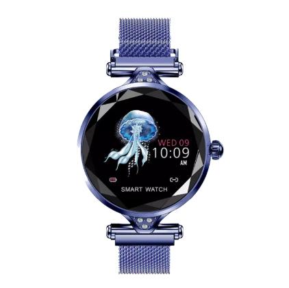 Smartwatchสายรัดข้อมือนาฬิกาตรวจสอบอัตราการเต้นของหัวใจนาฬิกาบลูทูh1 ธ โทรออกด้วยเสียงนาฬิการับข้อมูล Iphone/huawei/oppo/xiaomi ทั่วไป.