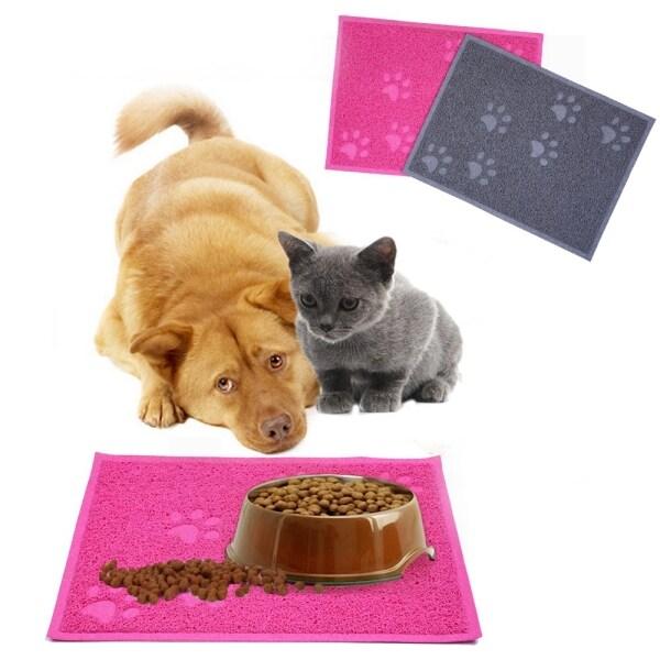 Đĩa PVC Lau Chùi GA27524 Tấm Lót Mèo In Hình Chân Nước Thức Ăn, Pet Nguồn Cung Cấp Thảm Cho Ăn, Thảm Cho Chó