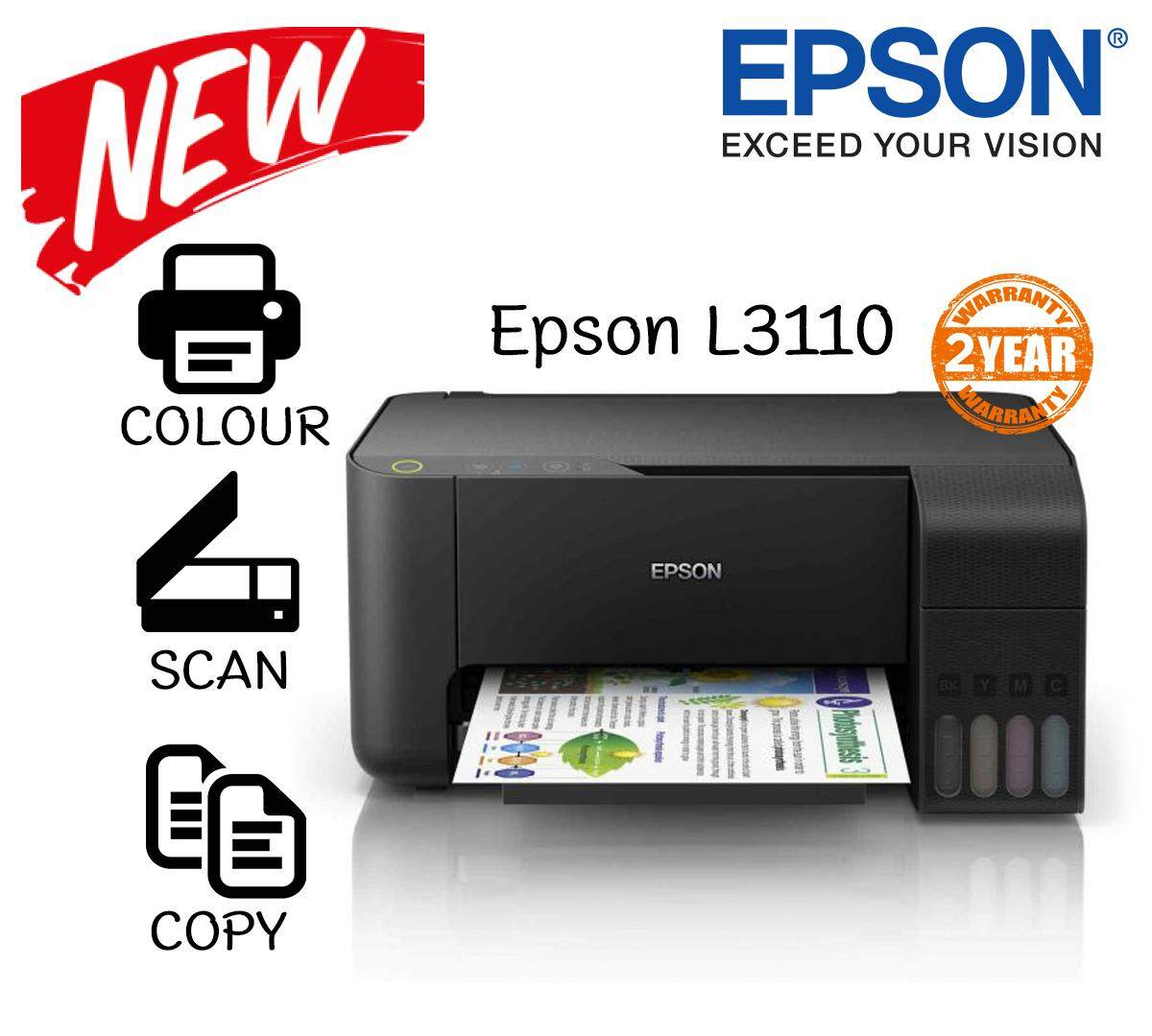 Epson Eco Tank L3110 L-Series Ink Tank Printer By Titcom.