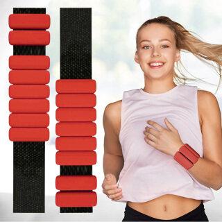 Vòng đeo tay để tập yoga, 1 đôi dây đeo cổ chân của tạ để tập chạy. thumbnail