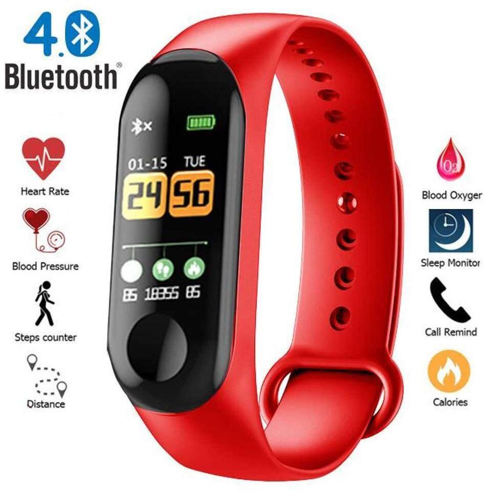 CostShipShop นาฬิกาเด็ก ดูเด็กดูสมาร์ท นาฬิกาข้อมือ สายซิลิโคนนุ่ม Smart Watch นับก้าวเดิน วัดอัตราการเต้นของหัวใจ วัดแคลอรี่ แจ้งเตือนสายเรียกเข้า วัดความดัน เชื่อมต่อผ่าน Bluetoot รุ่น M3