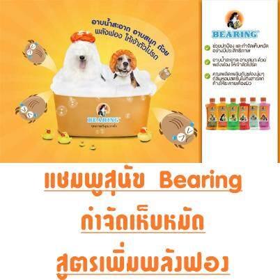 แชมพู สูตร 2 สำหรับสุนัขขนสั้น (สีส้ม) แชมพูหมา แชมพูสุนัข Bearing กำจัดเห็บหมัด สูตรเพิ่มพลังฟอง สุนัขขนสั้น ขนยาว กลิ่นสาบ ขนขาว สุนัขพันธุ์เล็ก แชมพูลดกลิ่น.