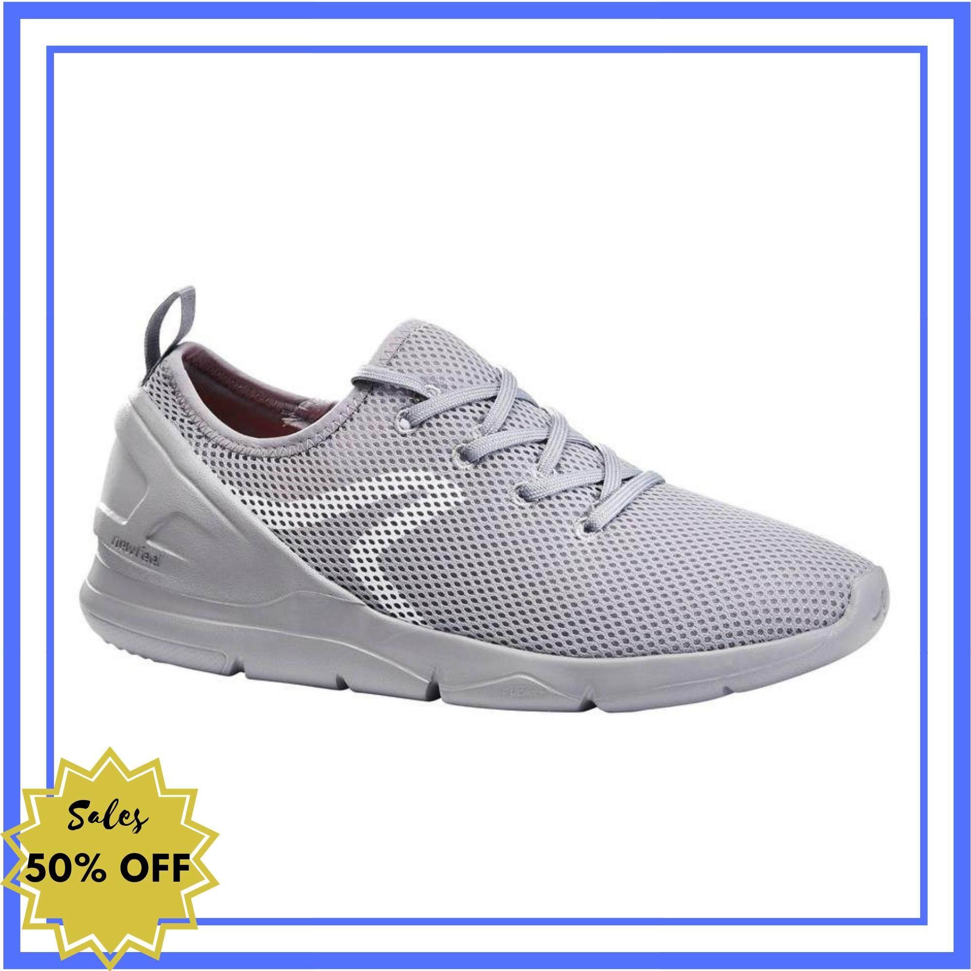 ส่งฟรี ส่งด่วน รองเท้าใส่เดินเพื่อสุขภาพสำหรับผู้หญิงรุ่น Pw 100 (สีเทา) สินค้ารับประกัน 2 ปี By Sportswear1.