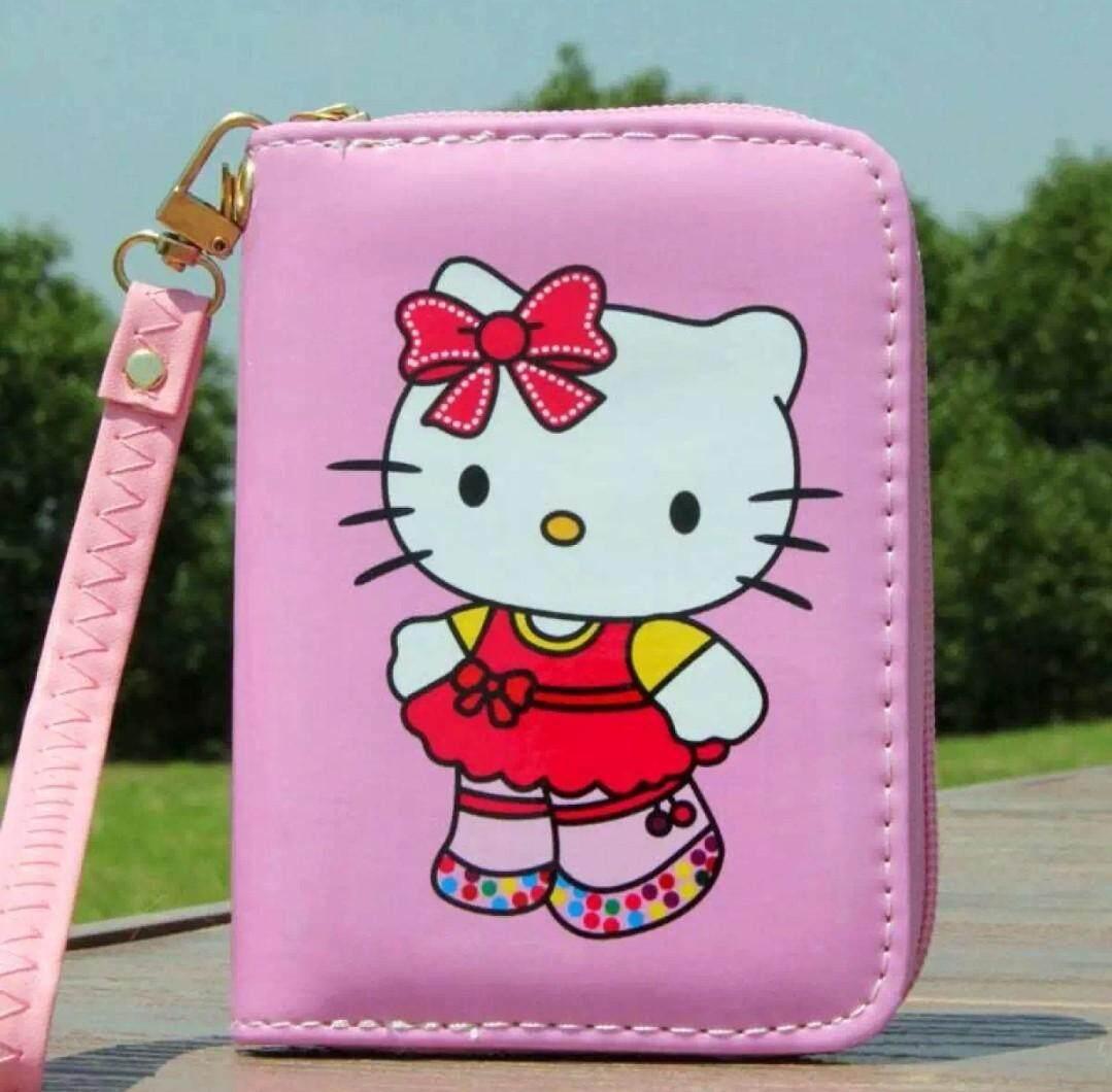 กระเป๋าสตางค์ Hello Kitty ทรงสั้น กระเป๋าคิคคี้ลายใหม่ กระเป๋าเงินหญิง กระเป๋าใส่บัตร ลายใหม่ใหม่อะนิเมะ สายแบ้ว สายหวาน ไม่ควรพลาด By K 88 Shop.