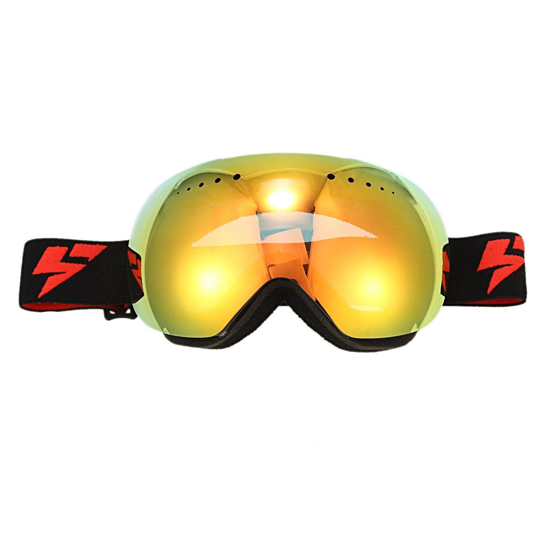 soman Borderless ski goggles large spherical double windproof and anti-fog ski glasses