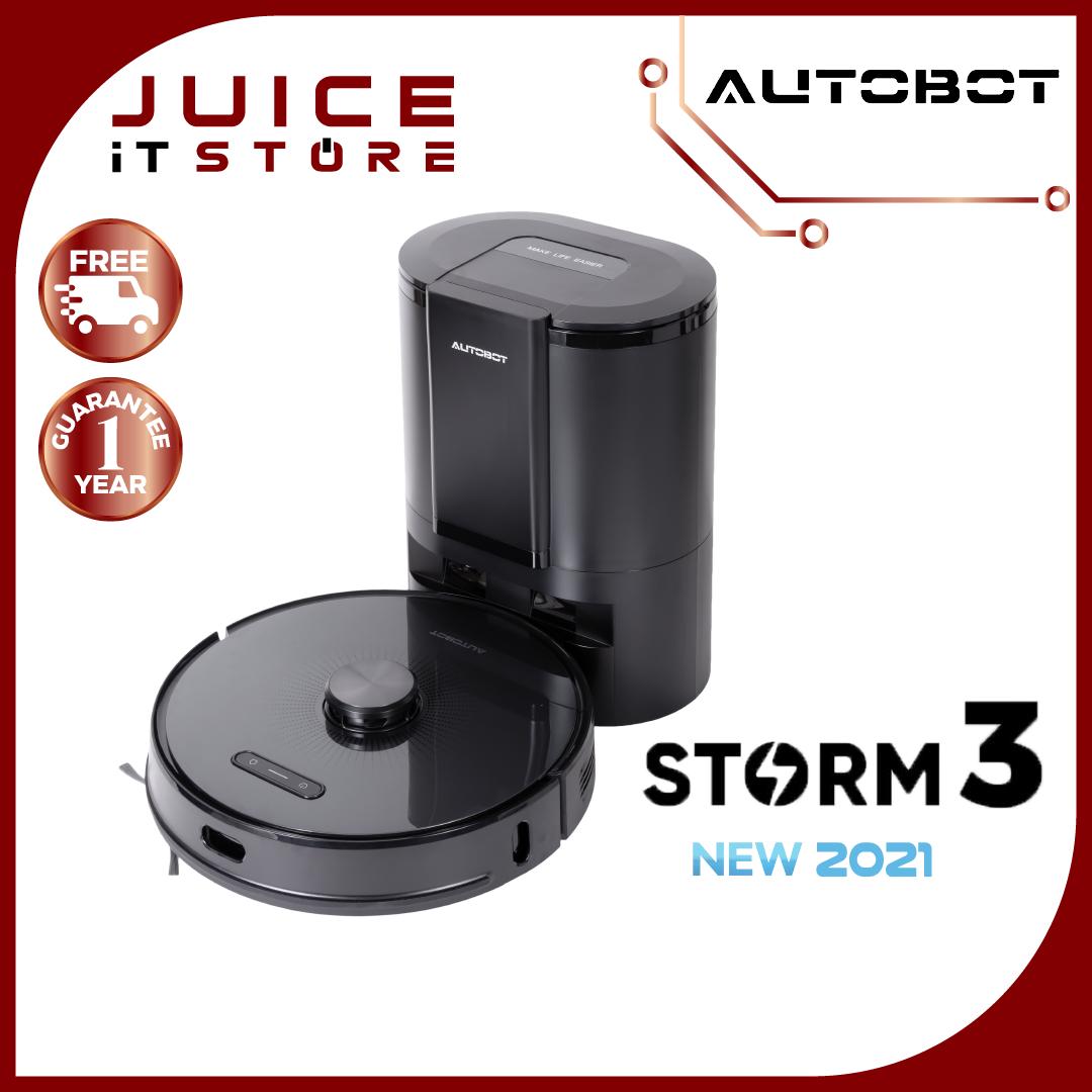 AUTOBOT หุ่นยนต์ดูดฝุ่นรุ่นใหม่ล่าสุดรุ่น STORM 3 มาพร้อมกับ Smart Dock 2.0 ถังเก็บฝุ่น มีระบบ Laser LIDA พร้อมเสียงภาษาไทย รับประกัน 3 ปี