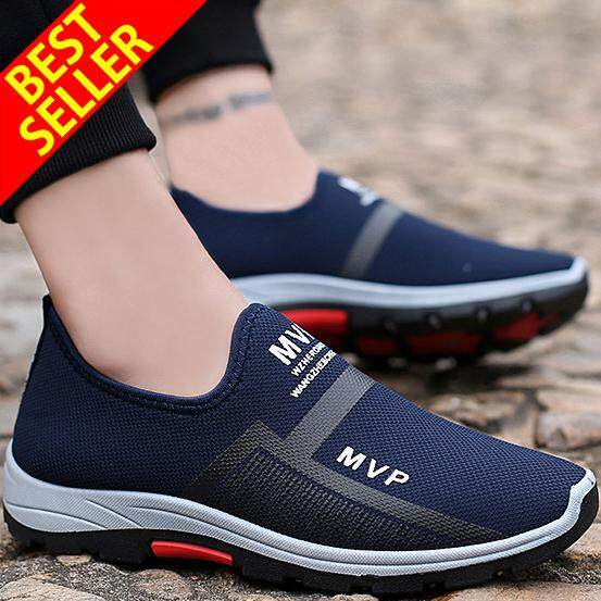 Qingshui คนใหม่สบาย ๆ รองเท้าผ้าใบผู้ชายรองเท้าวิ่งเดินขี้เกียจรองเท้าสบายขับรถรองเท้ากีฬาสำหรับผู้ชายลื่นบนโลฟเฟอร์ - Intl By Qing Shui Store.