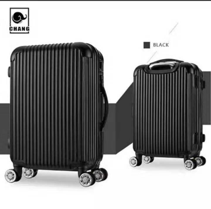 กระเป๋าเดินทางสีดำลายสก๊อต รุ่นใหม่กันน้ำ 24/20นิ้ว ล้อ360องศา วัสดุabs+pcแข็งแรงทนทาน กระเป๋าเดินทางล้อลาก.