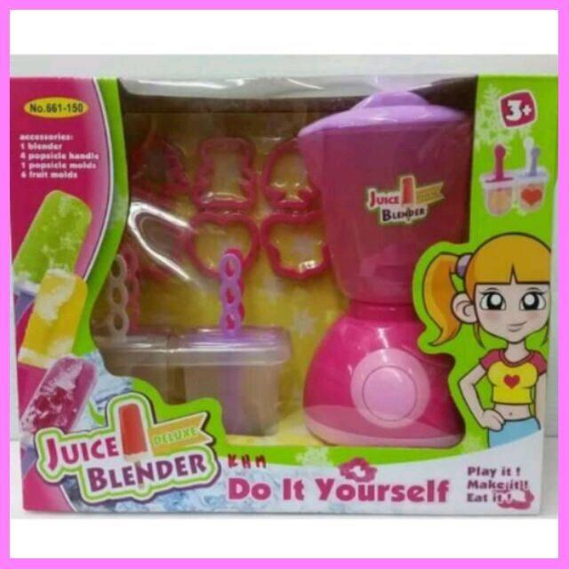 SALE!!! เครื่องปั่นน้ำผลไม้พร้อมชุดทำไอติม เครื่องปั่นของเล่น661-150 อุปกรณ์เด็กอ่อน เตาปิ้ง ตุ๊กตา ของเล่นเด็ก ของเล่นทั่วไป ของเล่นในบ้าน ของเล่นเด็กผู้หญิง