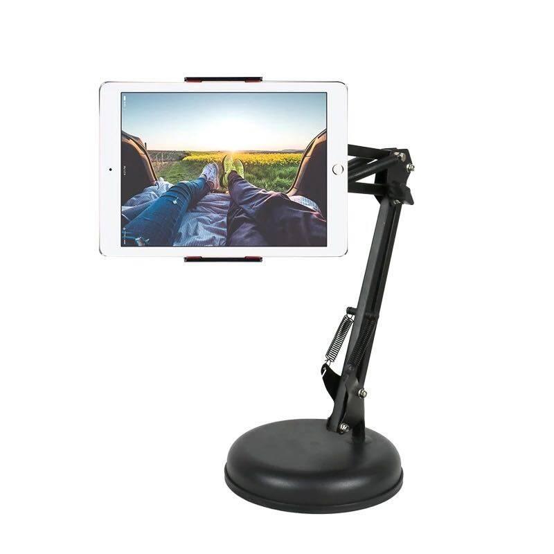 พับโทรศัพท์ผู้ถือ Desktop ขาตั้งipad ขาตั้งtablet Tablet Tripod Floor Stand Table ปรับได้ 360องศาใช้กับ Tablet, Ipad ปรับระดับได้ 70-140 ซ.ม..