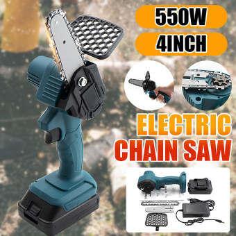 เลื่อยตัดกิ่งไฟฟ้า เลื่อยไฟฟ้า เลื่อยไฟฟ้าไร้สาย 550W 24V เลื่อยขนาดเล็ก เลื่อยตัดไม้ เลื่อตัดกิ่ง