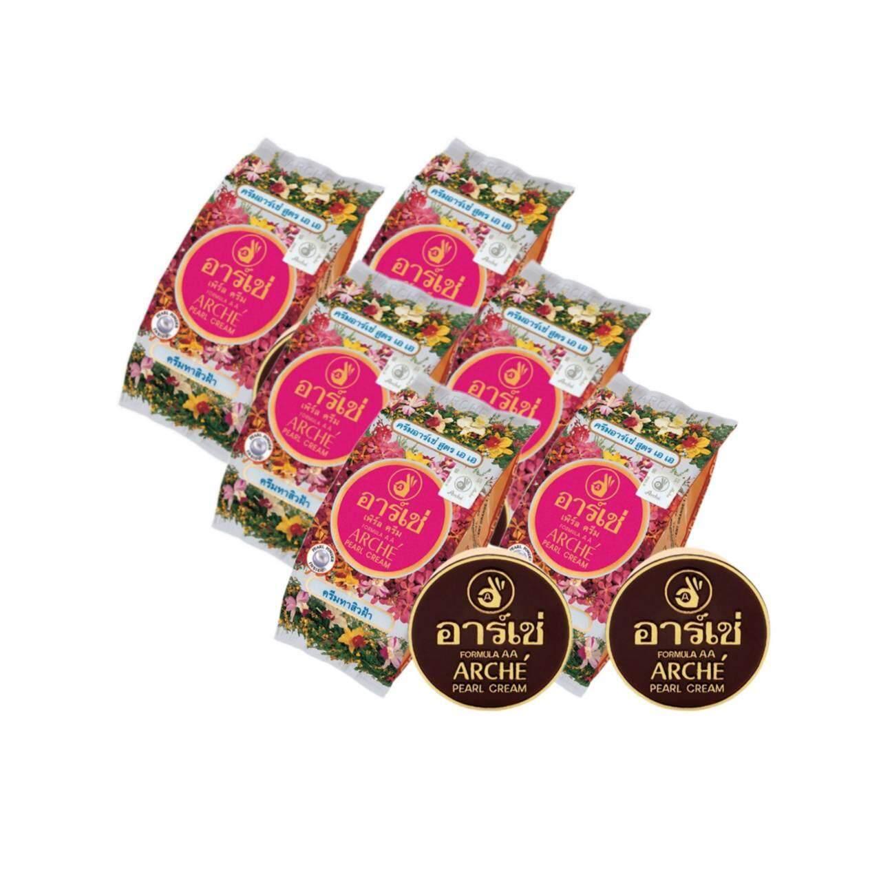 ครีมทาสิวฝ้า อาร์เช่ เพิร์ล ครีม สูตรเอ เอ Arche Pearl Cream ( 6 ซอง).