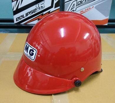 หมวกกันน็อคครึ่งใบเรดี้  สีแดง.