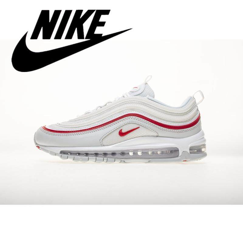 e388f84f04 Nike Air Max 97 Men's Lightweight Sneakers Increase Height Women's Running  Shoes University Red 36-