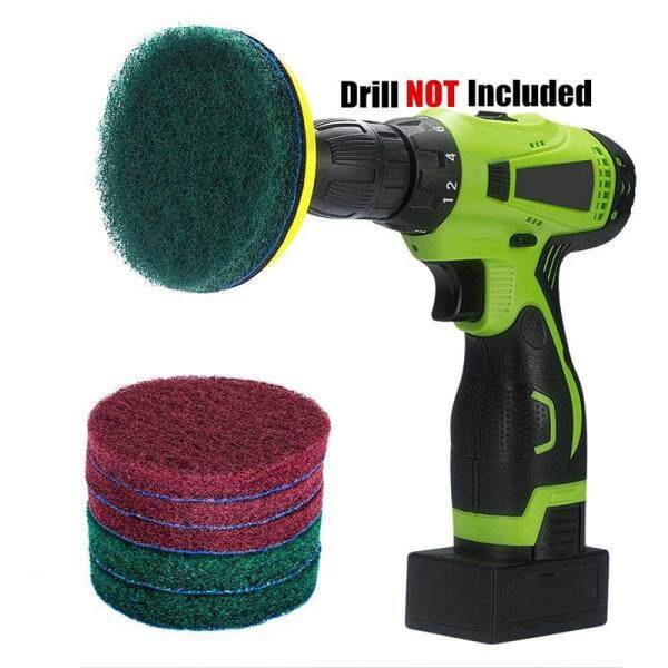 Drill Power Brush Tile Scrubber Scouring Pads Cleaning Kit, Heavy Duty Household Cleaning Tool (Drill NOT Included)
