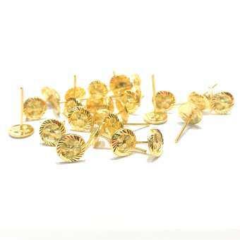 KPTGOLD ต่างหูทองแท้96.5% ลายกังหัน