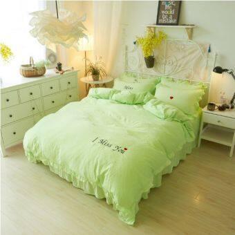 ชุดผ้าปูที่นอนใยไหม 3.5ฟุต/5ฟุต/6ฟุต  พร้อมผ้านวมใยไหมขนาด 6 ฟุต รวม 6 ชิ้น สีพาสเทล