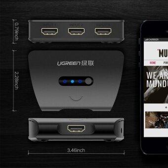 UGREEN รุ่น 40215 HDMI Switcher Splitter 3x1 กล่องแยกสัญญาณภาพ HDMI 3 ช่อง  ออก 1 ช่องสัญญาณ รองรับ 4K HDMI Port for XBOX 360 PS3 PS4 Smart Android HD