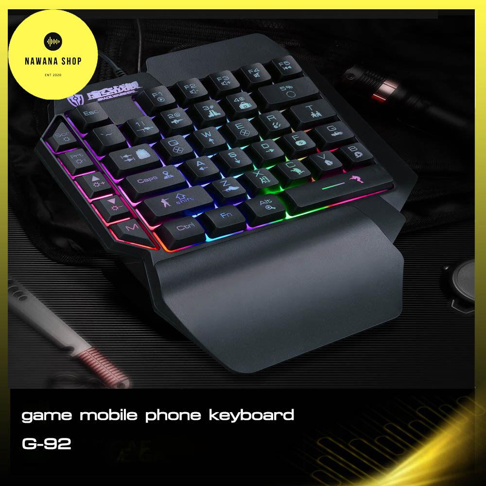 คีย์บอร์ดมือเดียว คีย์บอร์ดสั้น คีย์บอร์ดมือถือ คียบอร์ดมีไฟ  Game Mobile Phone Keyboard Nawana Shop คีย์บอร์ดเล่นเกม.